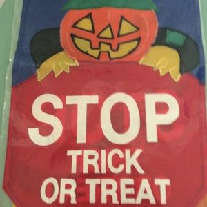 Stop 🛑 Trick or Treat 🎃Outdoor Flag